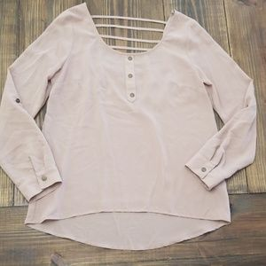 Anthropologie E Hanger M Open Back Small Blouse